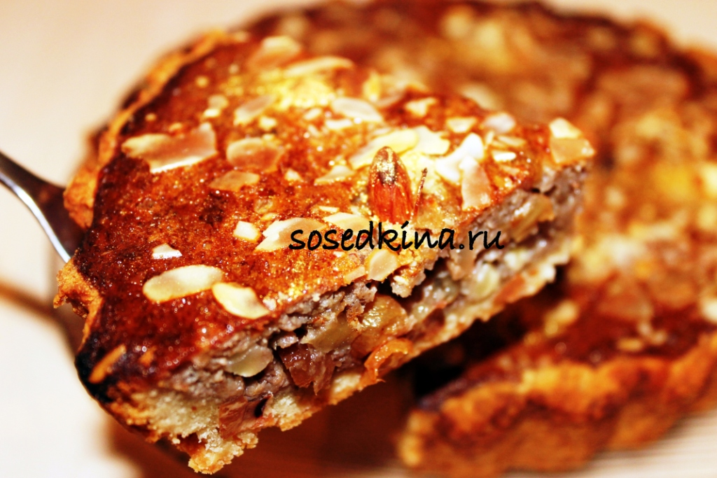 Пирог с орехом рецепт