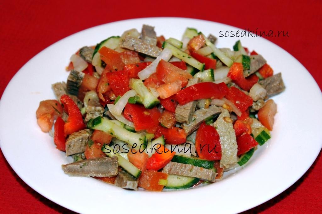 Салат с болгарским перцем простой рецепт - b