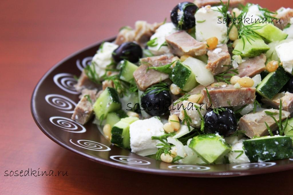 Салаты с мясом и виноградом 8