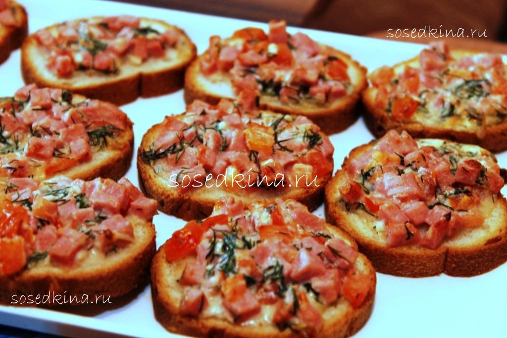 горячие бутерброды пицца в духовке рецепты с фото